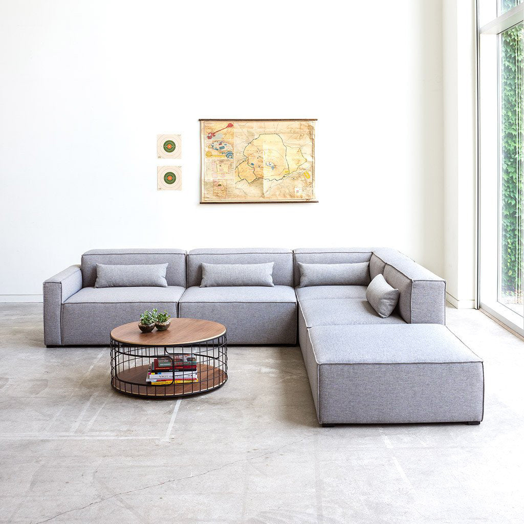 Mix Modular Sectional 4-pc | Parliament Stone