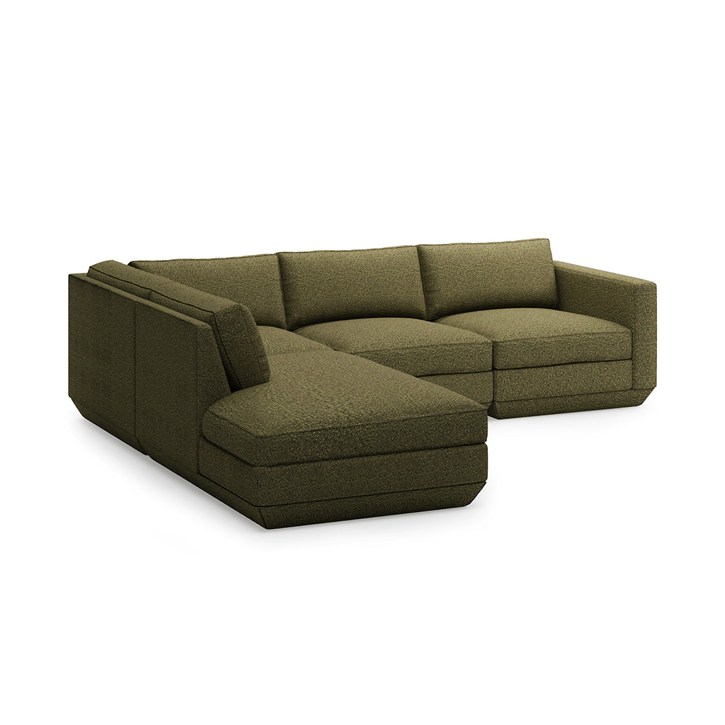 Podium 4PC Lounge Sectional A | Copenhagen Terra