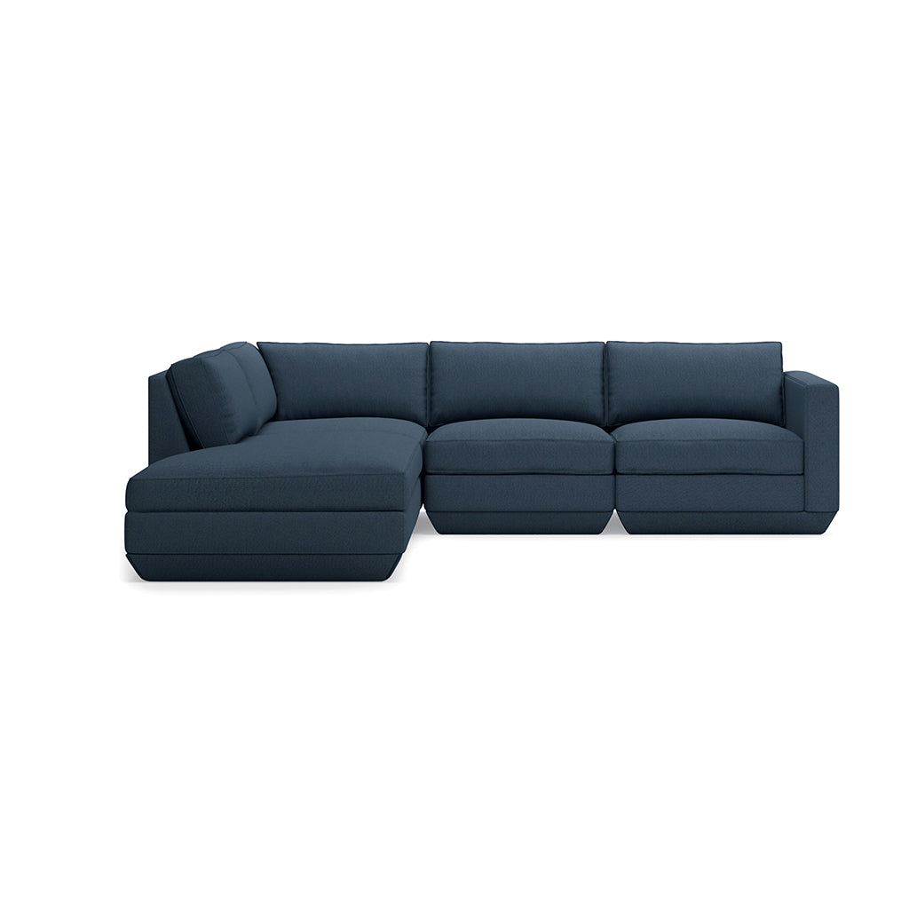 Podium 4PC Lounge Sectional A | Hanson Navy