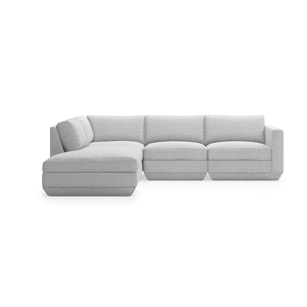 Podium 4PC Lounge Sectional A | Bayview Silver