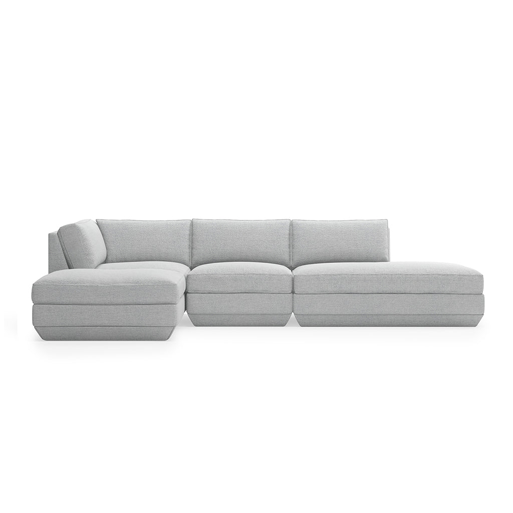 Podium 4PC Lounge Sectional B | Bayview Silver