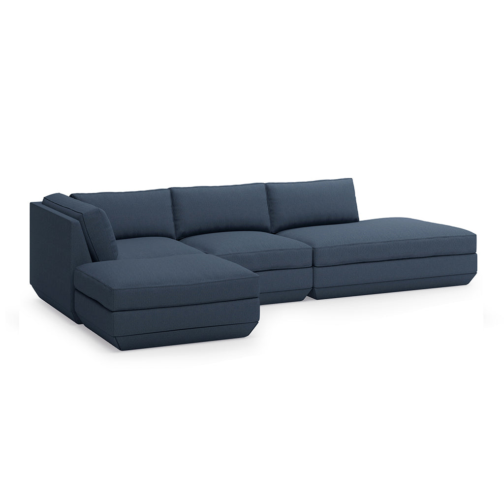 Podium 4PC Lounge Sectional B | Hanson Navy