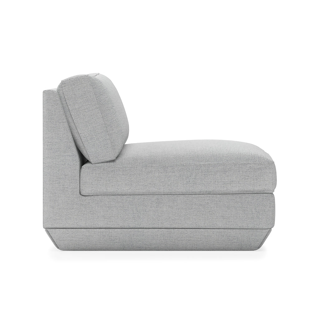 Podium Armless Chair | Bayview Silver