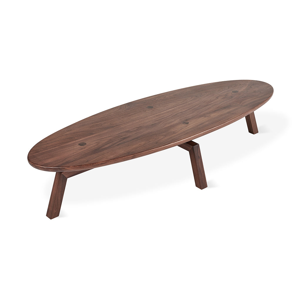 Solana Oval Coffee Table | Walnut