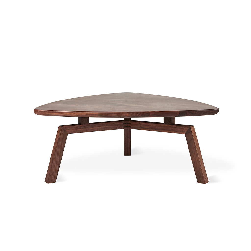 Solana Triangular Coffee Table | Walnut