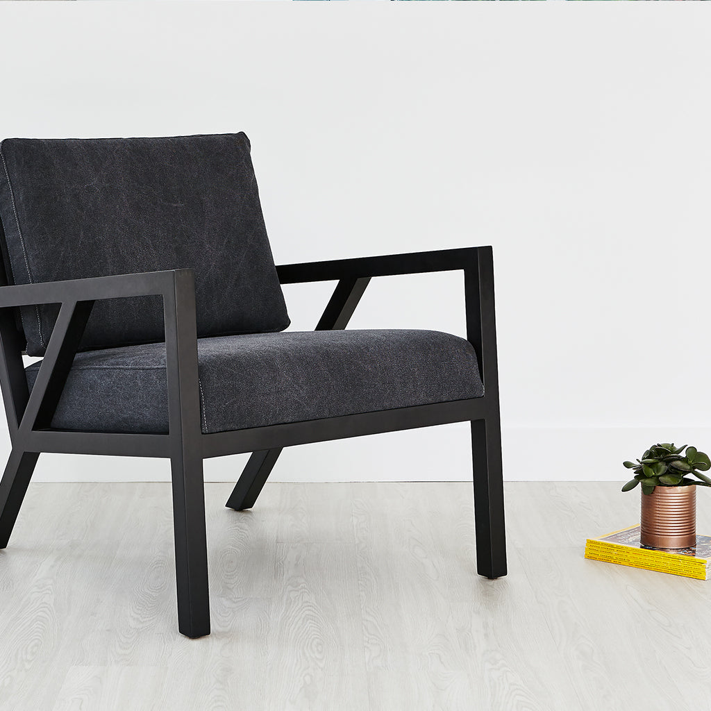Truss Chair | Vintage Mineral & Black Ash