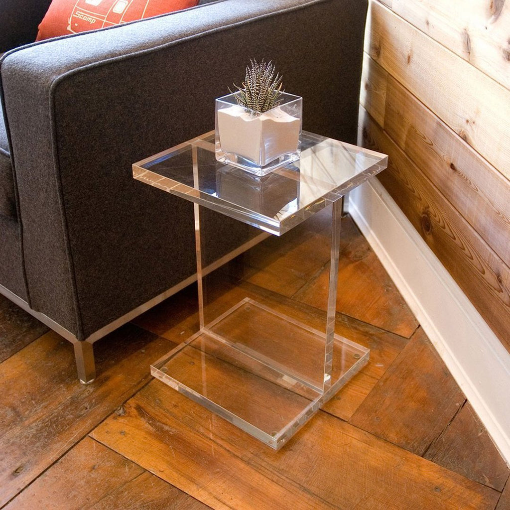 Acrylic I Beam Table Accent Tables Gus Modern