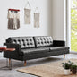 Archer Sofa | Saddle Black Leather