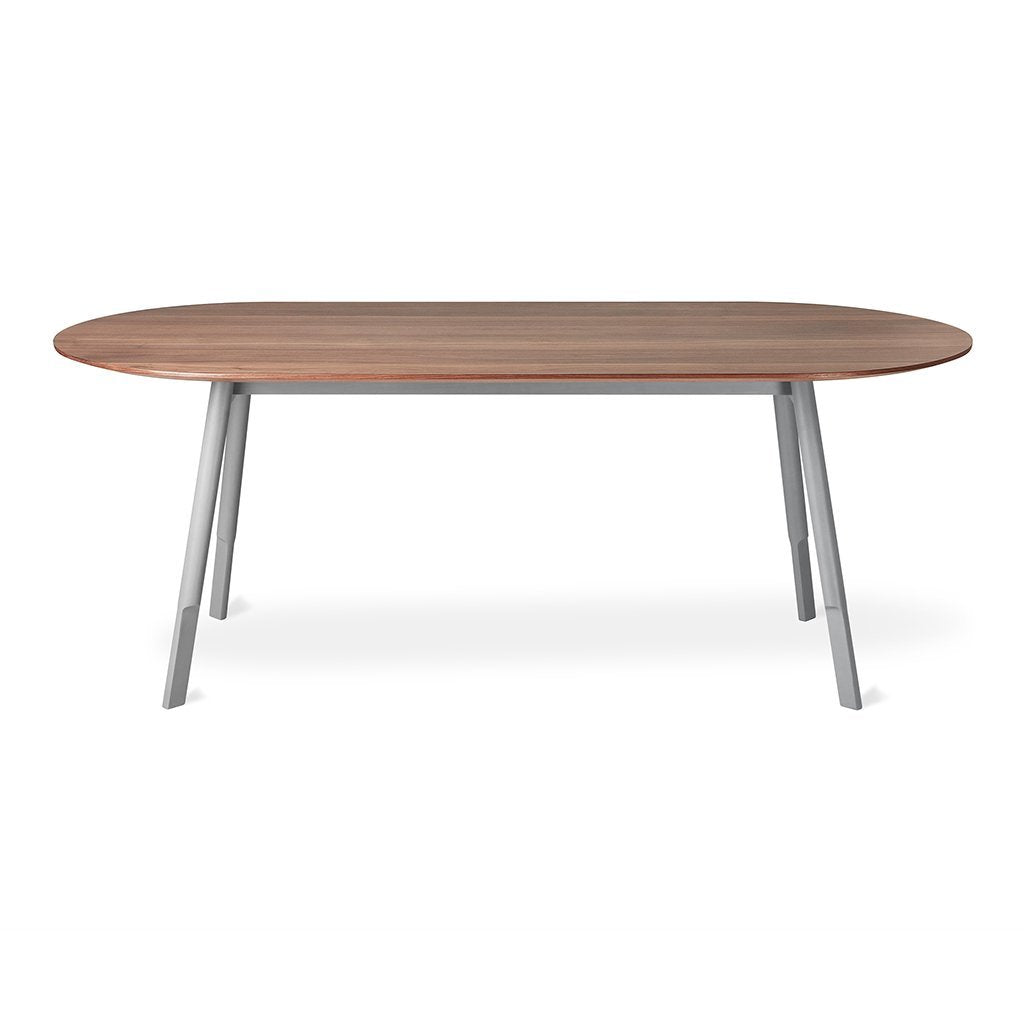 Bracket Dining Table | Walnut & Cadet Grey