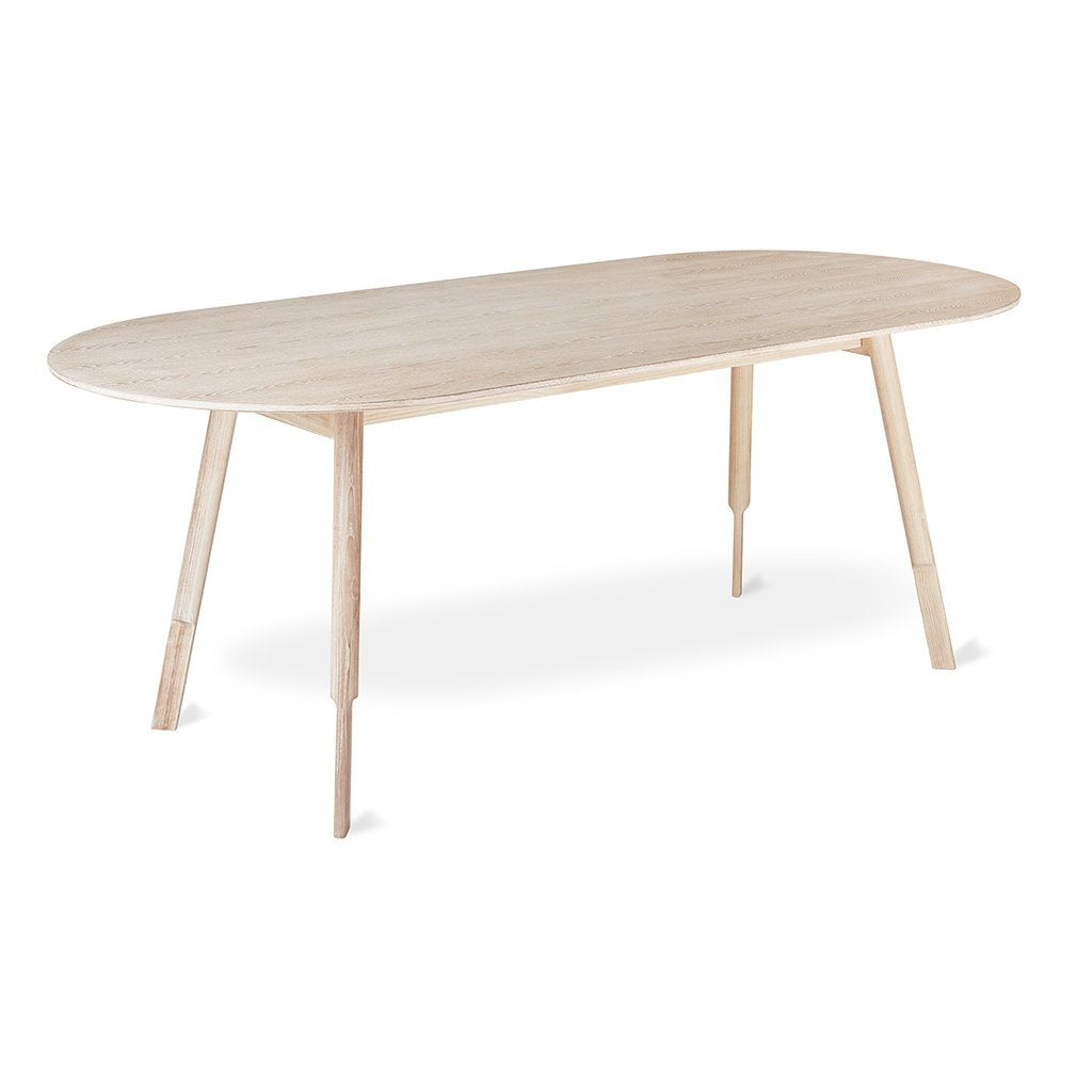 Bracket Dining Table | White Wash Ash