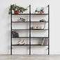Gus* Modern | Black Uprights/Black Brackets/Black Shelves
