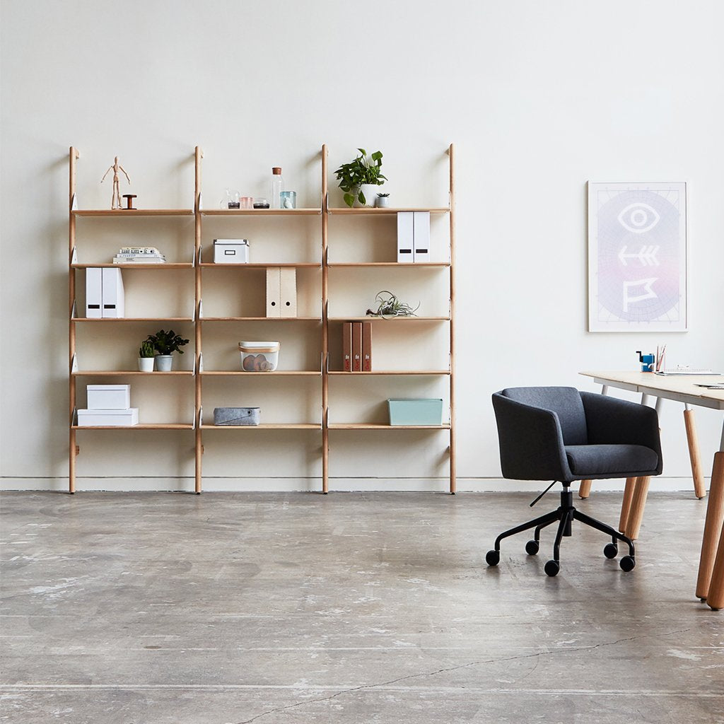 Branch-3 Shelving Unit with Desk