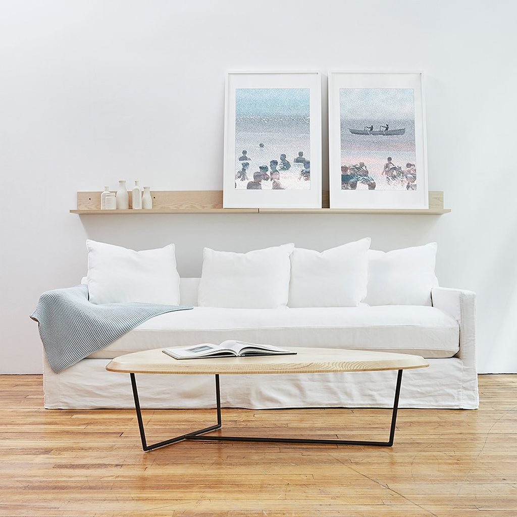 Carmel Sofa | Washed Denim White