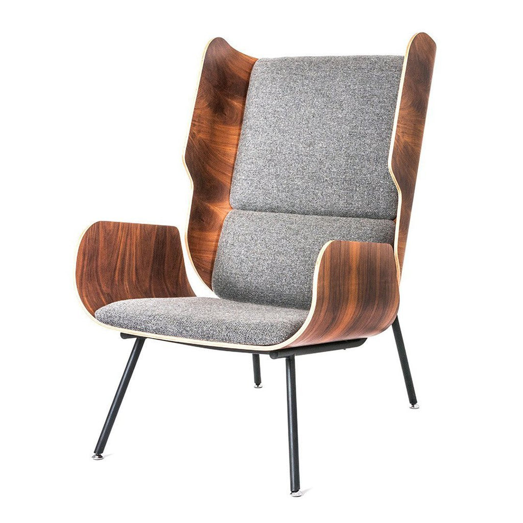 Elk Chair | Varsity Charcoal & Walnut