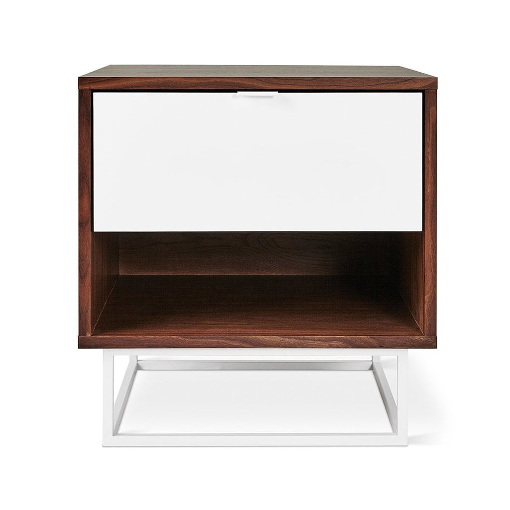 Emerson End Table | Walnut & White