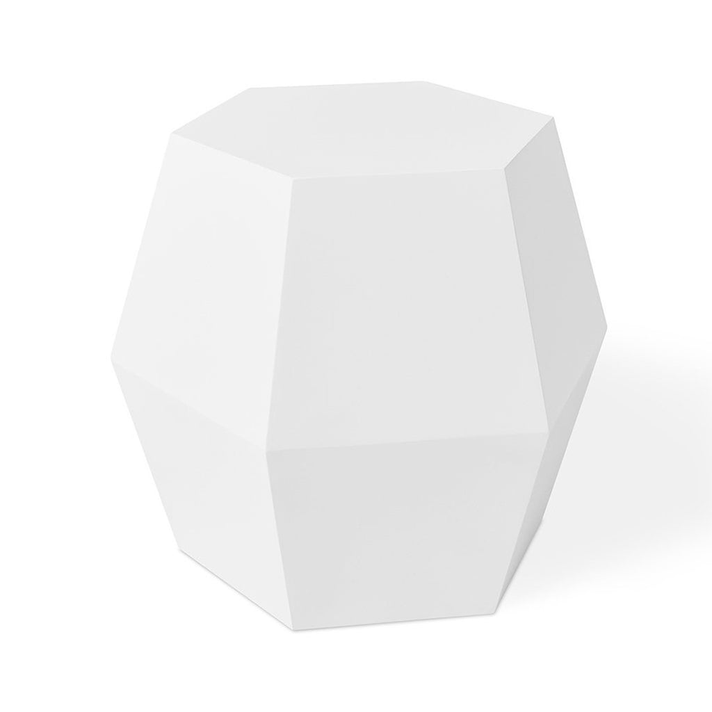 Facet-14 End Table | White