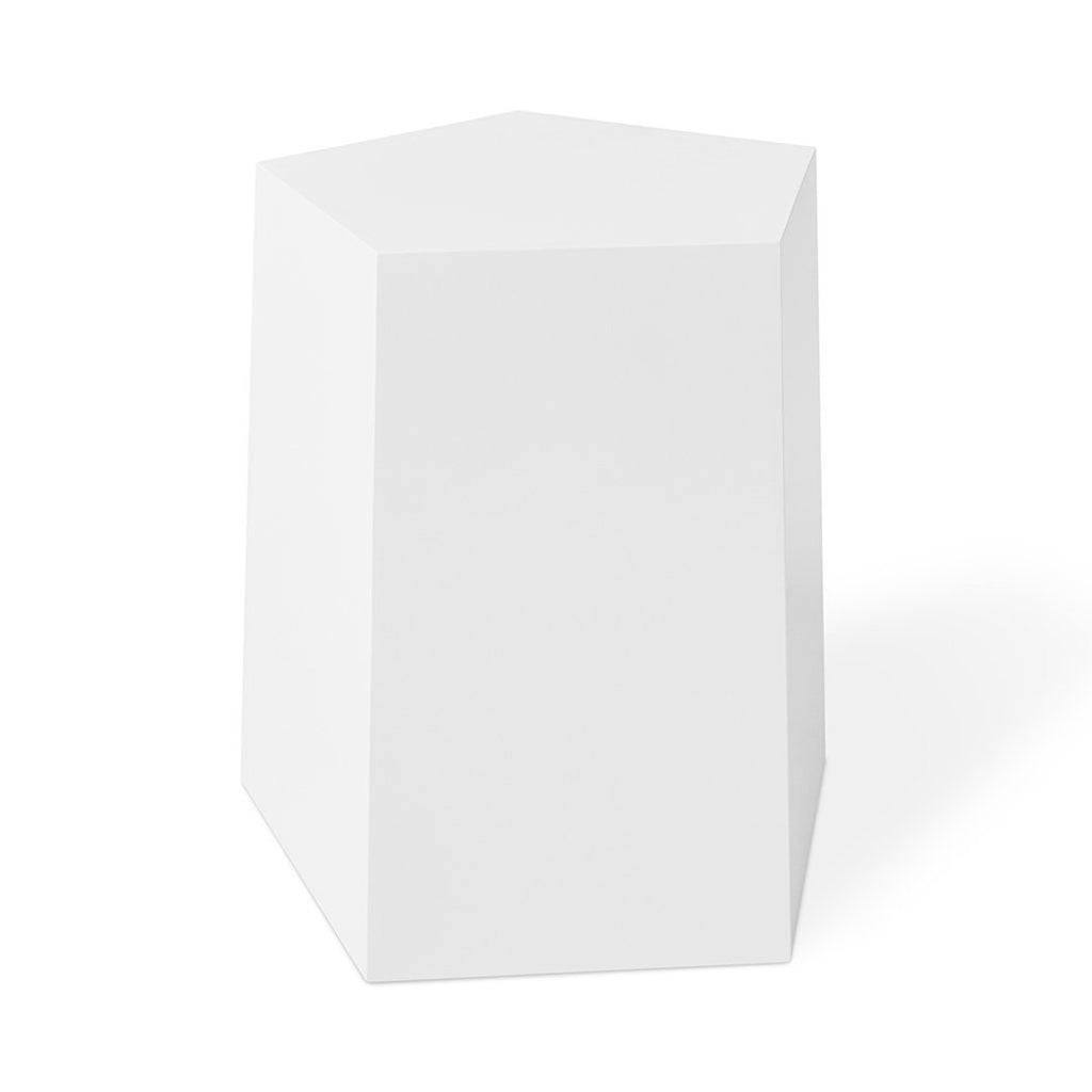 Facet-7 End Table | White
