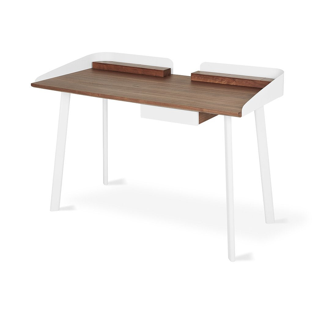 Gander Desk | Walnut & White
