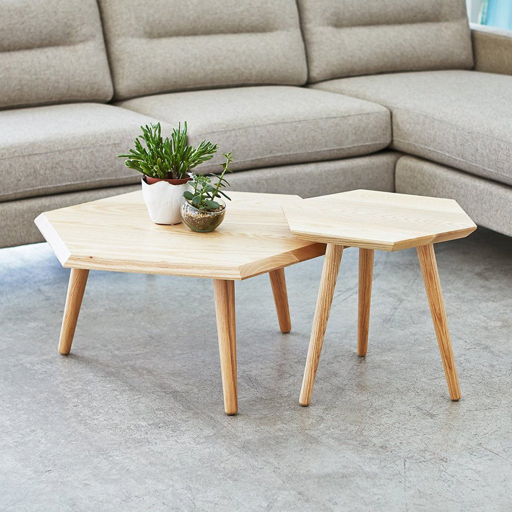 Hooper Storage Coffee Table Natural Ash: Metric Coffee Table
