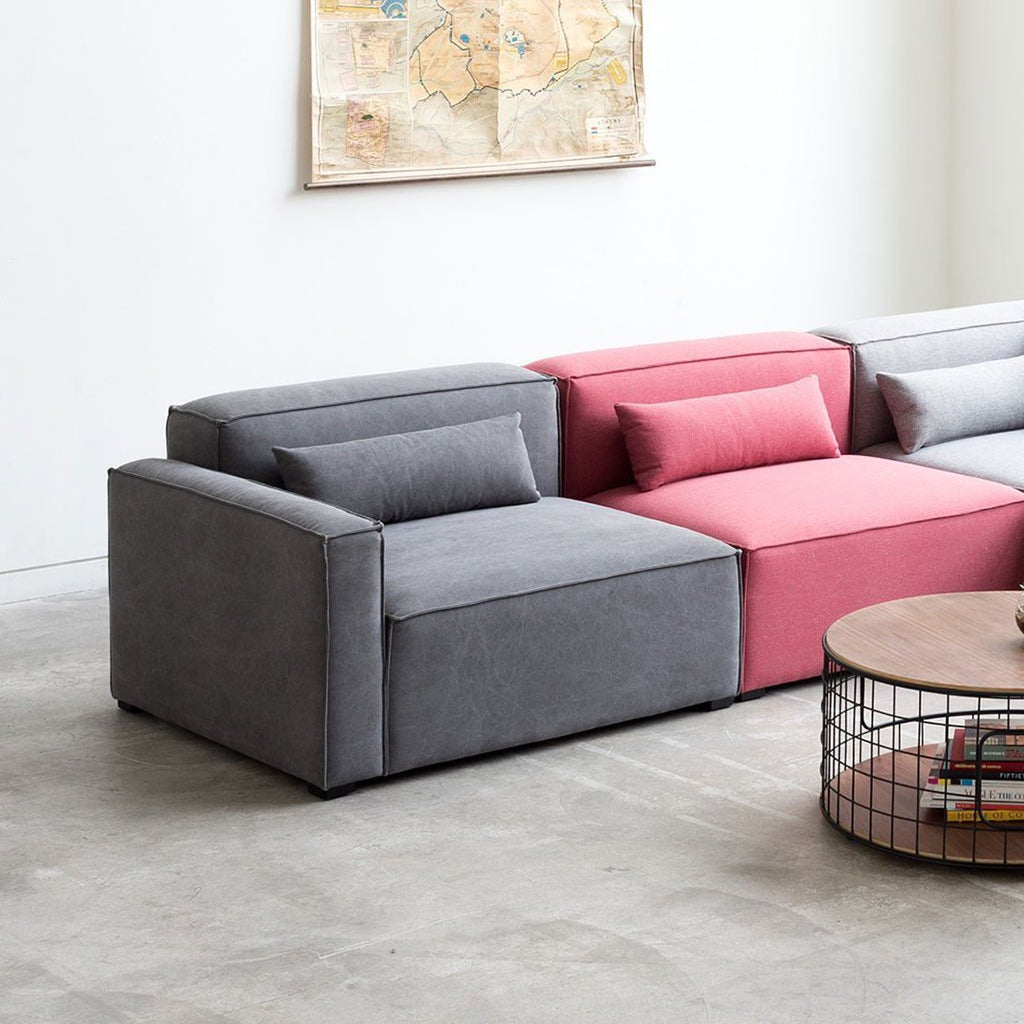 Contemporary Sofa Chairs: Mix Modular 3-PC Sofa