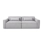 Mix Modular Sofa 2-PC | Parliament Stone