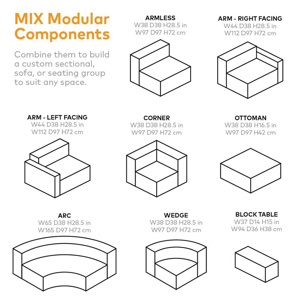 Mix Modular 3-PC Seating Group B