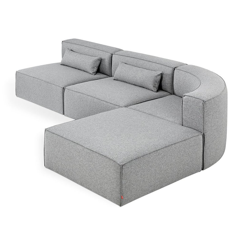 Mix Modular Wedge Sectional 4-PC | Parliament Stone