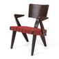 Spanner Lounge Chair with Arms | Dark Birch & Red