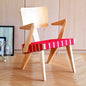Spanner Lounge Chair with Arms | Light Birch & Red