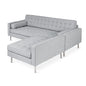 Spencer LOFT Bi-Sectional | Bayview Silver