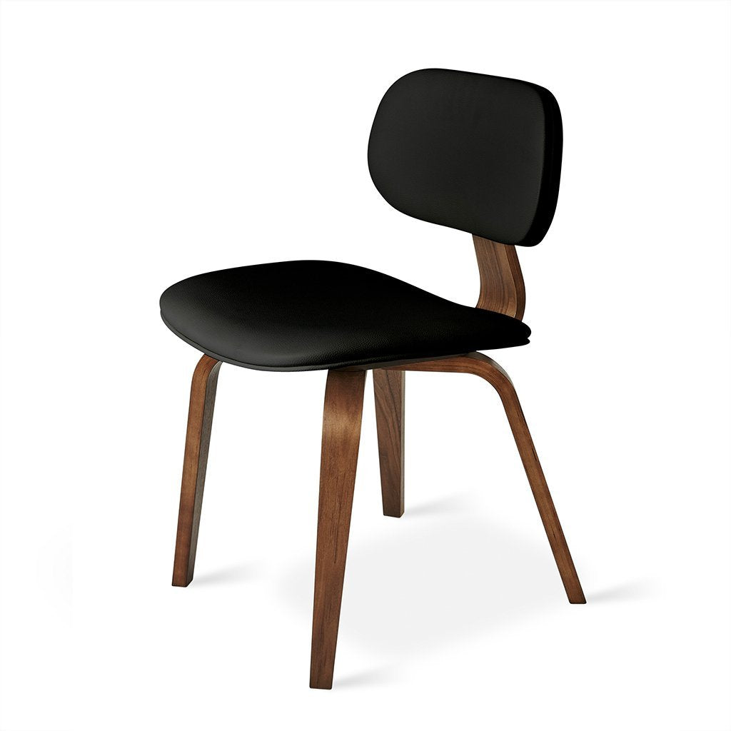 Thompson Chair | Walnut & Vinyl Coal