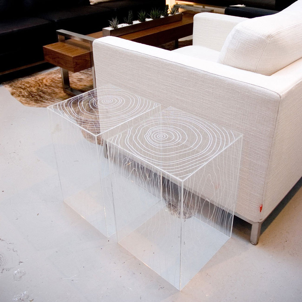 Timber Table | Clear Acrylic