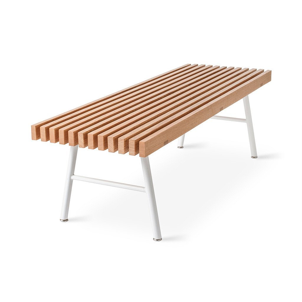 Transit Bench | Natural Ash & White