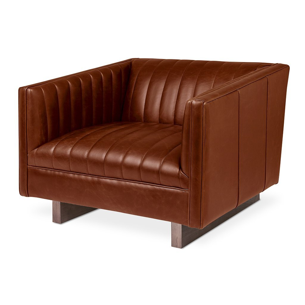 Wallace Chair | Saddle Brown Leather