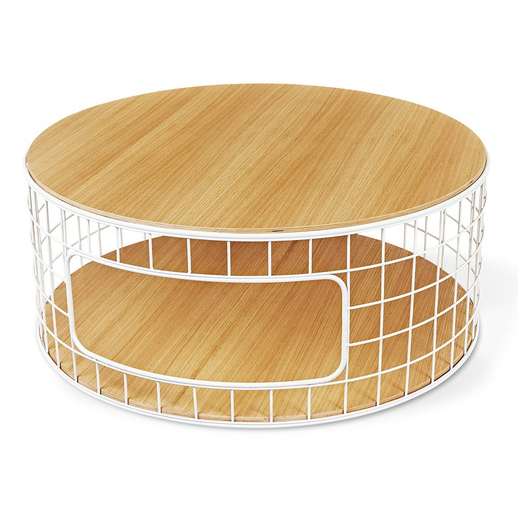Wireframe Coffee Table | White U0026 Natural Oak