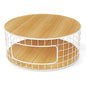 Wireframe Coffee Table | White & Natural Oak