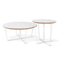 Array Coffee Table & End Table | White