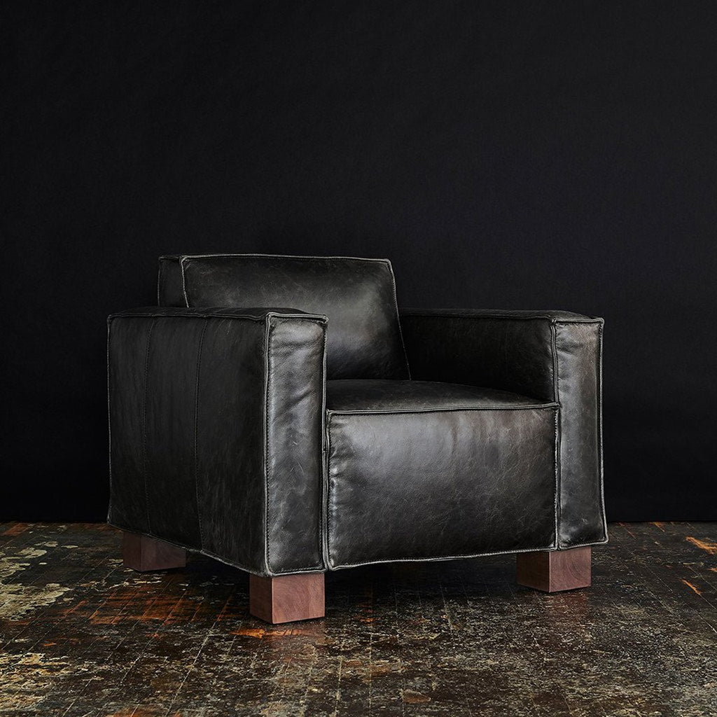 Cabot Chair | Saddle Black Leather