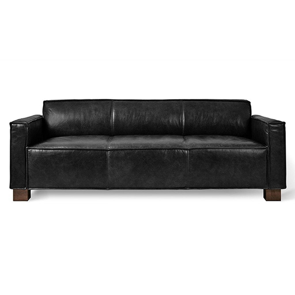Cabot Sofa | Saddle Black Leather