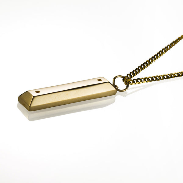 'Parking Block' pendant - 10K Solid Gold (Cuban)