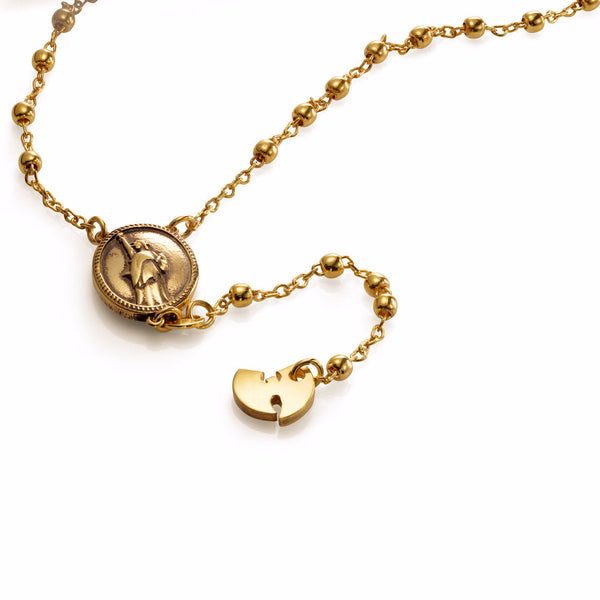'Wu' rosary - Gold plated