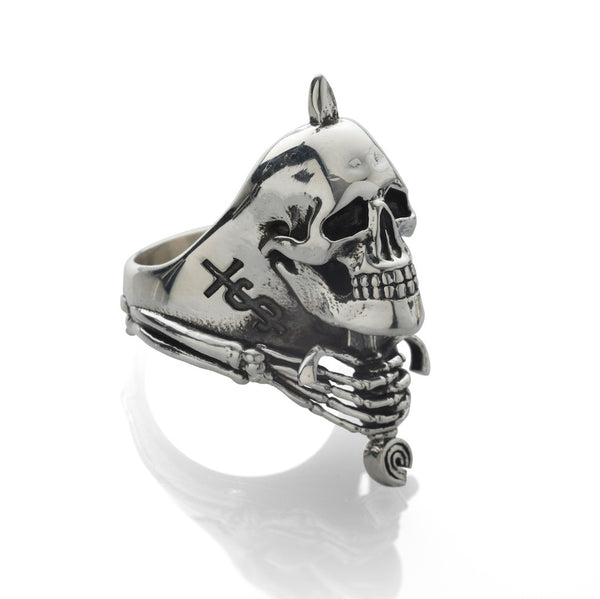 'Skull And Sword' ring - .925 Sterling Silver