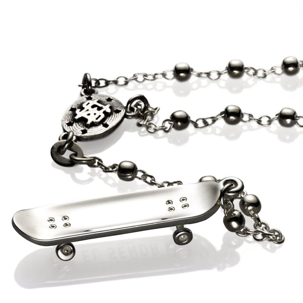 'Stevie Williams' rosary - Rhodium plated