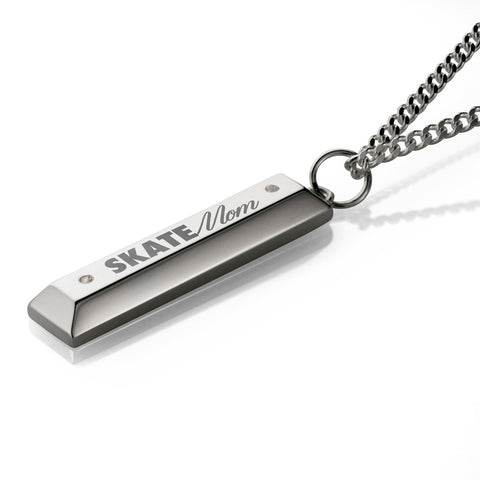 'Skate Mom' Parking Block pendant - .925 Sterling Silver (Cuban)