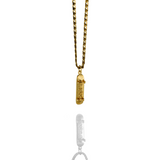 'Skate Dad' Skateboard pendant - 10K Solid Gold