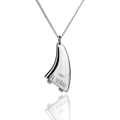 'Surf Fin' Pendant - .925 Sterling Silver