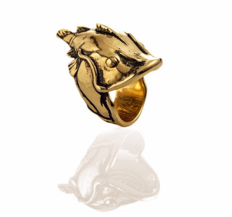Yelawolf 'Catfish Billy' ring - Gold Plated