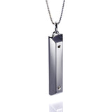 'Parking Block' pendant - Rhodium plated