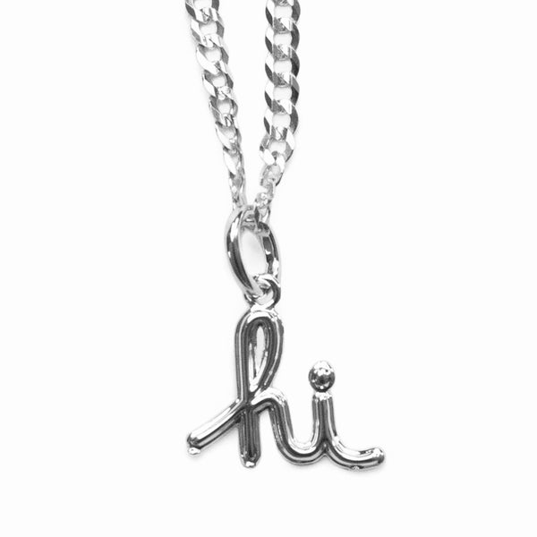 In4mation x El Señor 'hi' pendant .925 sterling silver