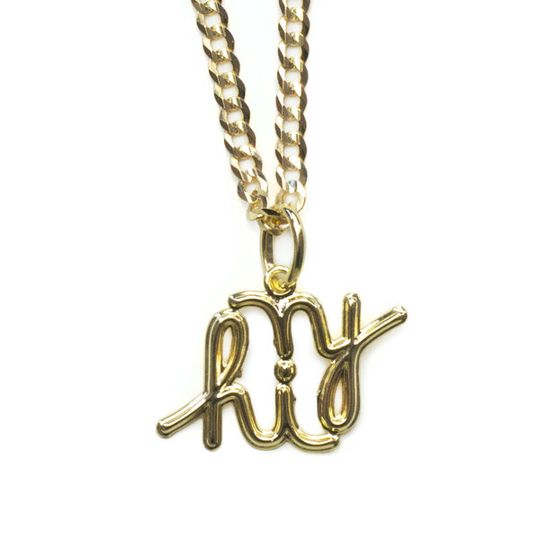 In4mation x El Señor 'anagram' pendant 14k solid gold